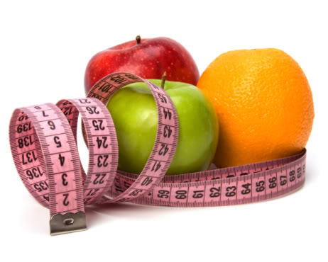 The Skinny on Weight Management - Fruit and Measuring Tape