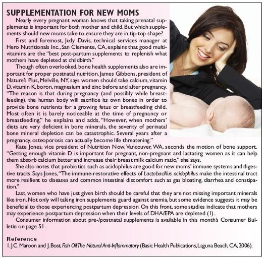 supplementation for new moms