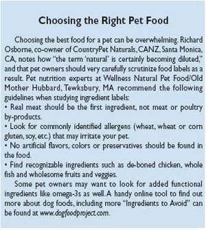 Choosing the Right Pet Food