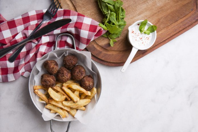 Greek Meatballs with Potatoes, Greek Meatballs, Greek Meatballs with Potatoes Recipe, Recipe, Meatball Recipe, Greek Meatballs Recipe